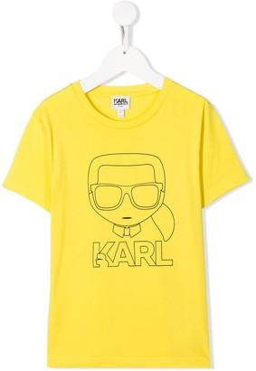 Karl Lagerfeld Paris outline T-shirt