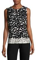 Calvin Klein Two-Tone Sleeveless Top