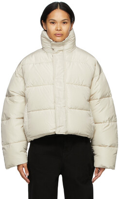 Balenciaga Beige BB Puffer Jacket