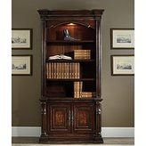 Hooker Furniture Grand Palais 4-Shelf Bookcase in Dark Walnut