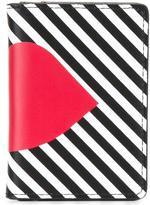 Lulu Guinness 'Stripe Lip' cardholder