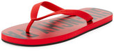 Givenchy Men's Rubber Logo Flip Flop, Red
