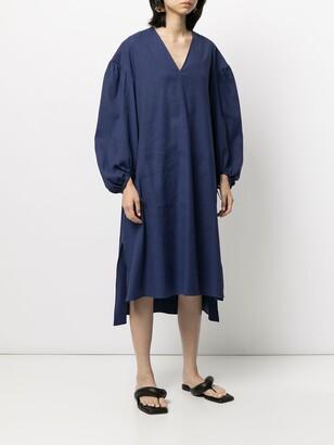 Joseph Balloon Sleeve Midi Dress