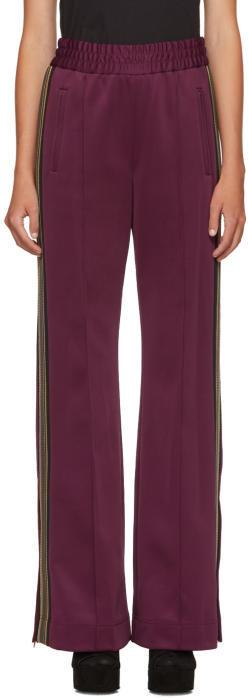 Marc Jacobs Burgundy Striped Track Pants