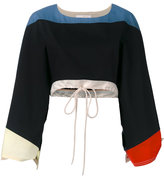 Chloé colour block top - women - Cotton - 36