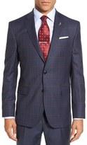 Ted Baker Men's 'Jay' Trim Fit Windowpane Plaid Wool Sport Coat