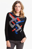 Trouve Geo Knit Sweater