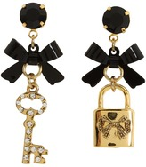 Betsey Johnson Iconic Heart Lock & Key Earrings