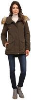 DKNY Fur Hooded Anorak w/ Orange Contrast Lining 82441-Y5