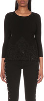 Claudie Pierlot Maxi floral lace knitted jumper