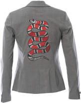 HIPCHIK Plaid Blazer With Snake