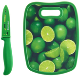 Sabatier Lime Stainless Steel Knife and Cutting Board Set (3 PC)