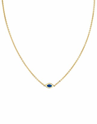Andy Lif Blue Enamel Cats Eye Necklace