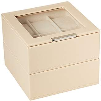 Wolf 319653 Stackable Set of 2 - 6 Piece Watch Trays
