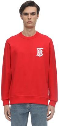 Burberry Tb Logo Print Cotton Jersey Sweatshirt
