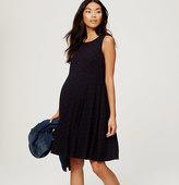 LOFT Maternity Dotted Knit Dress