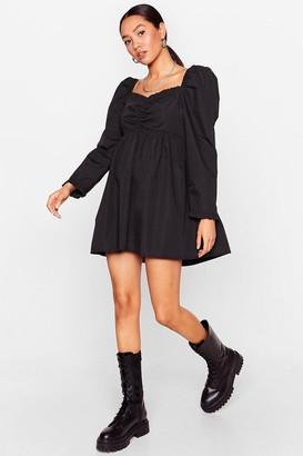 Nasty Gal Womens Puff Love Petite Sweetheart Mini Dress - Black