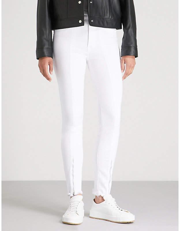 Good American Zipped-hem high-rise skinny jeans