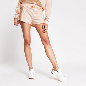 River Island Light pink side sequin paneled runner short