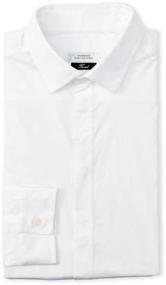 Versace Hidden Button Trend Dress Shirt