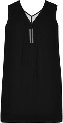 Rick Owens Double V Moody Tulle-paneled Crepe Mini Dress