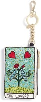 Alice + Olivia 'The Lovers' beaded coin purse key charm