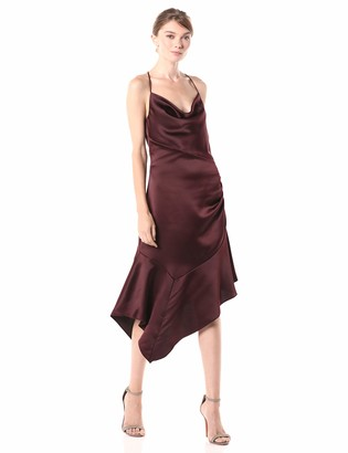 Parker Women's Edyth Sleeveless Drape Front Ruched SideMidi Dress