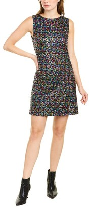 Betsey Johnson Rainbow Sequin Shift Dress