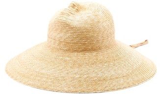 Flapper Xenia Moulded-face Straw Hat - Womens - Beige