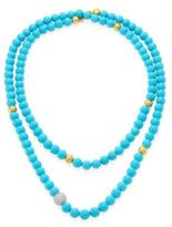 Gurhan Amulet Hue Diamond, Turquoise & 22-24K Yellow Gold Strand Necklace/50
