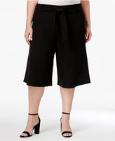 Disney Beauty and the Beast Trendy Plus Size Cropped Gaucho Pants