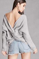 Forever 21 FOREVER 21+ Ribbed Knot-Back Sweater