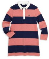Lacoste Toddler's, Little Girls' & Girl's Striped Rugby Dress