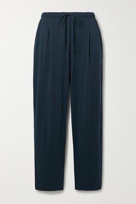 Skin - Savina Pima Cotton-jersey Pajama Pants - Midnight blue