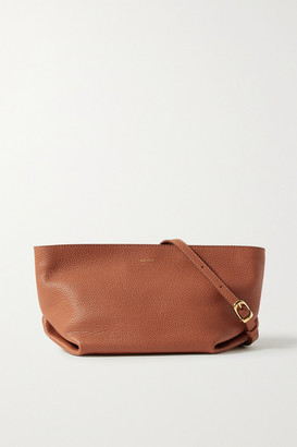 KHAITE Envelope Pleat Textured-leather Shoulder Bag - Orange