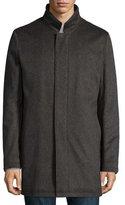 Neiman Marcus Solferino Cashmere Coat, Charcoal