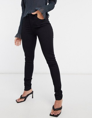Levi's 721 high waist skinny jean in black