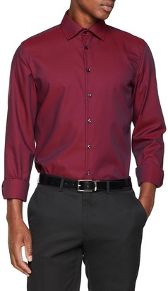 Seidensticker Men's Slim Langarm mit Kent-Kragen Bugelfrei uni Business Shirt