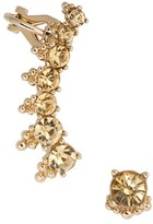 Marchesa Women's Ear Crawler & Stud Earring
