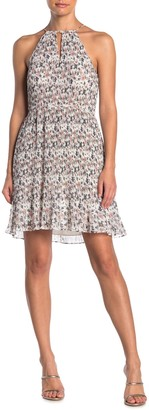 1 STATE Belle Floral Ruffle Hem Dress