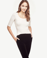 Ann Taylor Ribbed Scoop Neck Top
