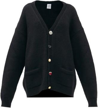 Vetements Oversized Multi-button Cardigan - Black