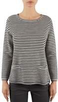 Gerard Darel Lelio Striped Pocketed Sweater