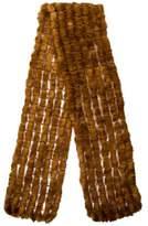 Adrienne Landau Mink Fur Knitted Scarf