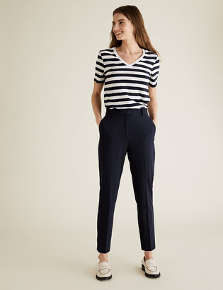 Marks and Spencer PETITE Slim Fit Ankle Grazer Trousers