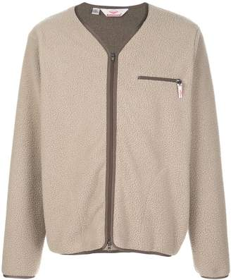 Battenwear Lodge faux-shearling cardigan