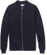 John Smedley - Singular Waffle-knit Merino Wool Bomber Jacket