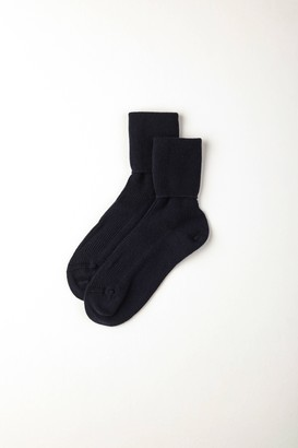 Johnstons of Elgin Navy Womens Cashmere Socks