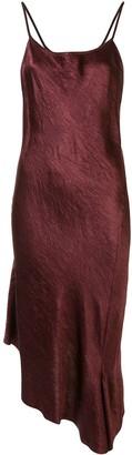 Ann Demeulemeester Asymmetric Shift Midi Dress