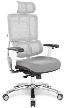 Office Star Adkin Office Chair with Headrest - White